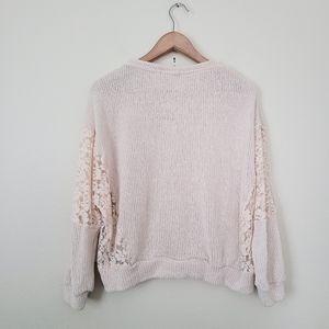 Coco + Jaimeson knit beige sweater XL